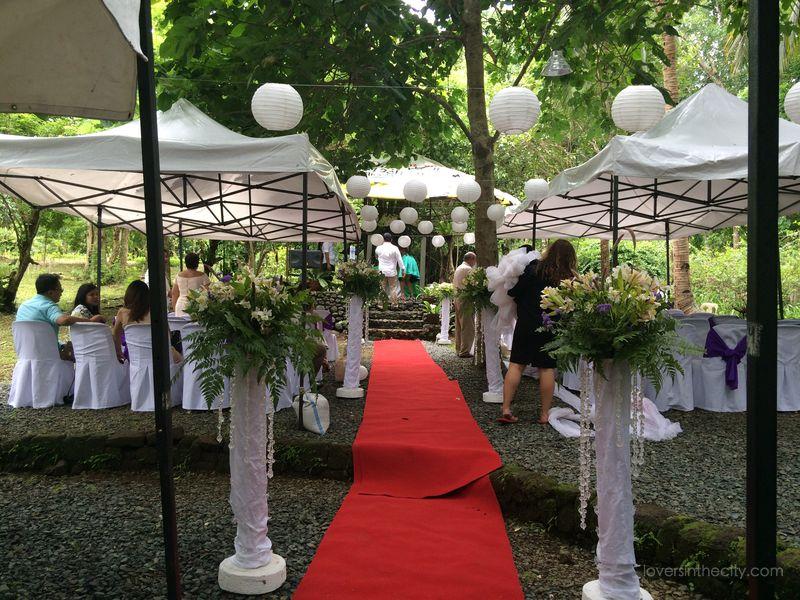 Agape Springs Wedding - Ceremony Aisle