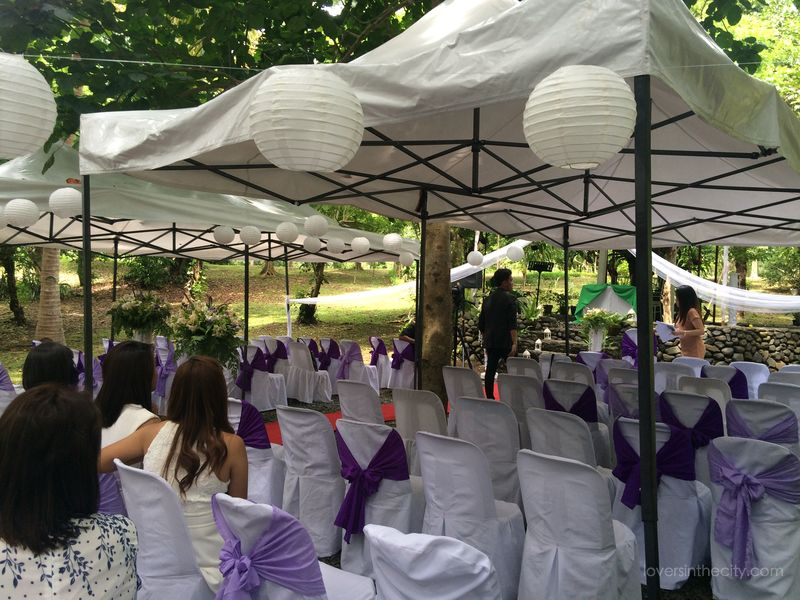 Agape Springs Wedding - Tent for the Guests