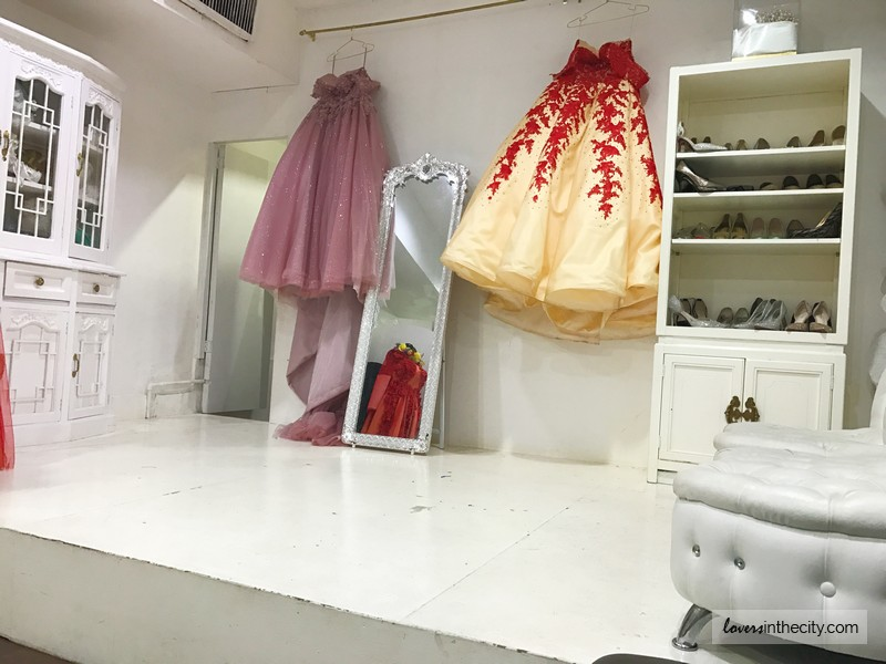 Gown For Rent Fitting Area Platform